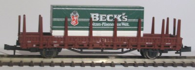 Gw-Rungenwagen-Container-Becks
